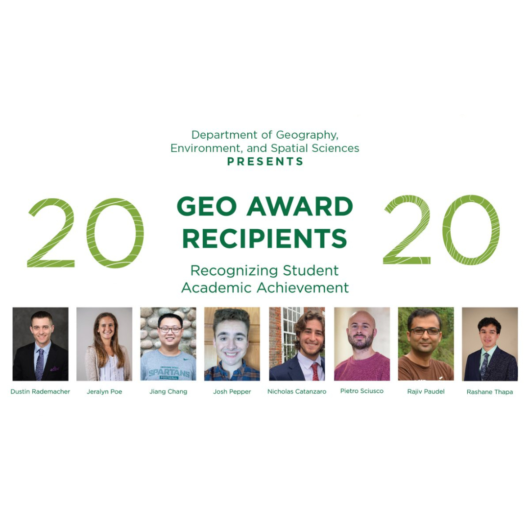 This Year's Geography Award Recipients