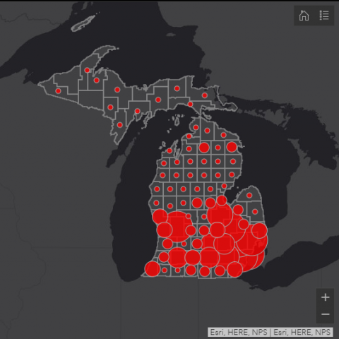 Mapping a Virus: Visualizing the Geography of COVID-19 in Michigan