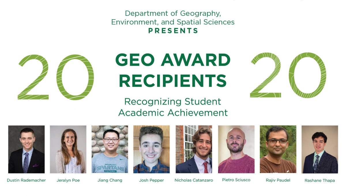 2020 GEO Award Recipients