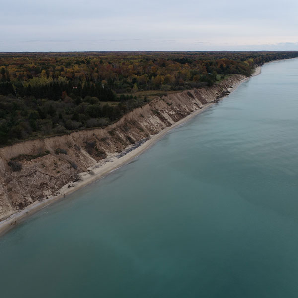 Coastal dunes along Lake Michigan